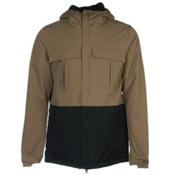 686 Authentic Moniker Mens Insulated Snowboard Jacket, Tobacco Colorblock, medium