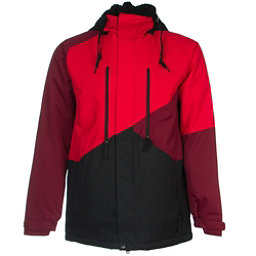 686 Authentic Arcade Mens Insulated Snowboard Jacket, Cardinal Colorblock, 256
