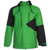 686 Authentic Arcade Mens Insulated Snowboard Jacket, Green Colorblock, medium