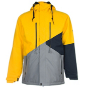 686 Authentic Arcade Mens Insulated Snowboard Jacket, Sun Colorblock, medium