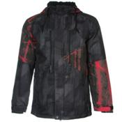 686 Authentic Arcade Mens Insulated Snowboard Jacket, Black Digi Stripe, medium
