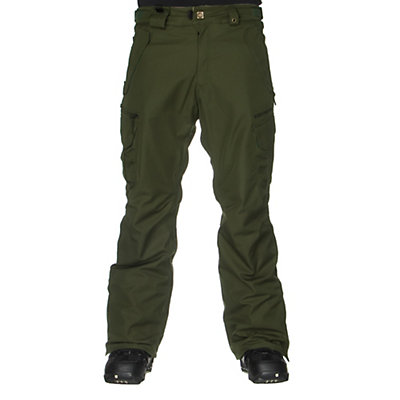 686 Authentic Smarty Cargo Mens Snowboard Pants, Forest, viewer