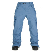 686 Authentic Smarty Cargo Mens Snowboard Pants, Slate Blue Pincord, medium