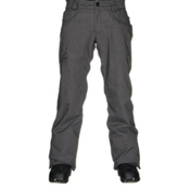 686 Authentic Raw Insulated Mens Snowboard Pants, Gunmetal Twill Denim, medium