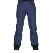 686 Authentic Raw Insulated Mens Snowboard Pants, Indigo Twill Denim, medium
