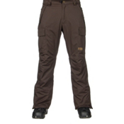 686 Authentic Infinity Insulated Mens Snowboard Pants, Coffee Herringbone, medium