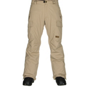 686 Authentic Infinity Insulated Mens Snowboard Pants, Khaki Herringbone, medium