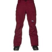 686 Authentic Infinity Insulated Mens Snowboard Pants, Wine Herringbone, medium