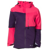 686 GLCR Solstice Thermagraph Womens Insulated Snowboard Jacket, Fuschia Diamond Dobby, medium