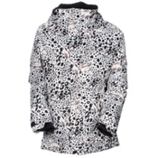 686 Authentic Smarty Catwalk Womens Insulated Snowboard Jacket, Grey Animal Print, medium
