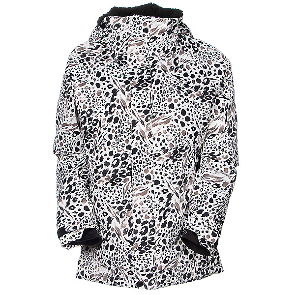 686 Authentic Smarty Catwalk Womens Insulated Snowboard Jacket, Grey Animal Print, 600