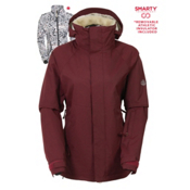 686 Authentic Smarty Catwalk Womens Insulated Snowboard Jacket, Wine Pincord, medium
