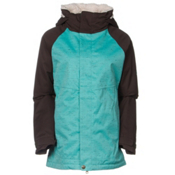 686 Authentic Smarty Catwalk Womens Insulated Snowboard Jacket, Tiffany Texture Herringbone, medium