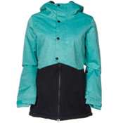 686 Authentic Rumor Womens Insulated Snowboard Jacket, Tiffany Texture Herringbone, medium