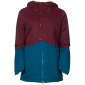 686 Authentic Rumor Womens Insulated Snowboard Jacket, Wine Pincord, medium