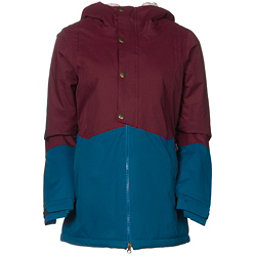 686 Authentic Rumor Womens Insulated Snowboard Jacket, Wine Pincord, 256