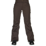 686 Authentic Patron Insulated Womens Snowboard Pants, Coffee Herringbone, medium