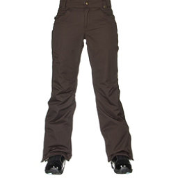 686 Authentic Patron Insulated Womens Snowboard Pants, Coffee Herringbone, 256