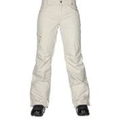 686 Authentic Patron Insulated Womens Snowboard Pants, Ivory Herringbone, medium
