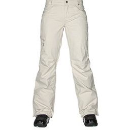 686 Authentic Patron Insulated Womens Snowboard Pants, Ivory Herringbone, 256