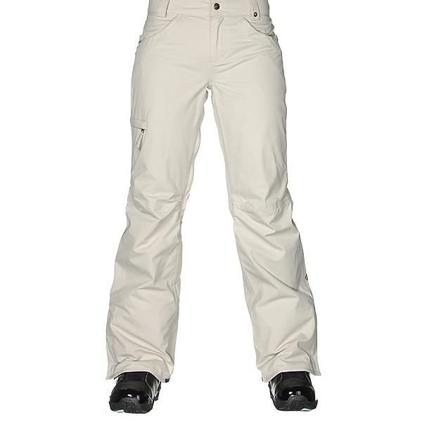 686 Authentic Patron Insulated Womens Snowboard Pants, Ivory Herringbone, 600