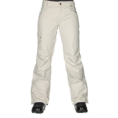 686 Authentic Patron Insulated Womens Snowboard Pants, Ivory Herringbone, viewer