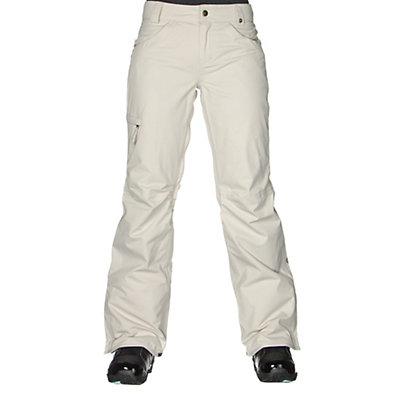686 Authentic Patron Insulated Womens Snowboard Pants, Ivory Herringbone, viewer