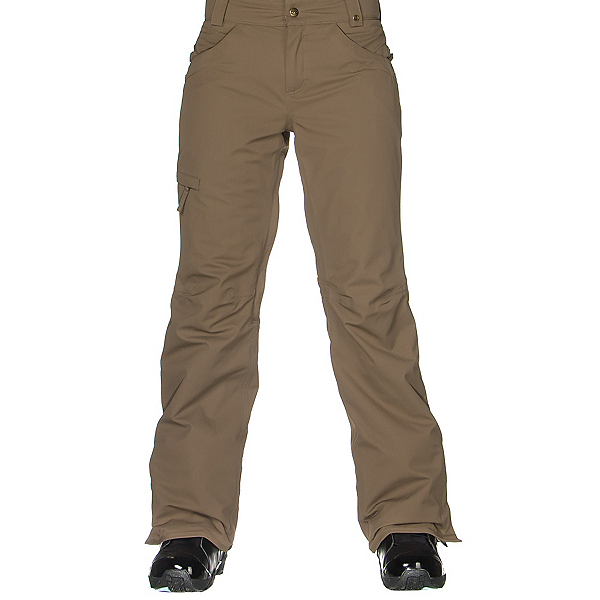 686 Authentic Patron Insulated Womens Snowboard Pants, Tobacco Herringbone, 600