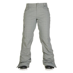 686 Authentic Patron Insulated Womens Snowboard Pants, Grey Herringbone, 256