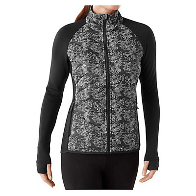 SmartWool Corbet 120 Printed Womens Jacket, Black, viewer