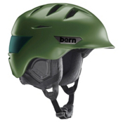 Bern Rollins Helmet, Satin Olive Green, medium