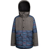 Orage Edwards Boys Ski Jacket, Emperor Blue Stripe, medium