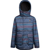 Orage Dennis Boys Ski Jacket, Emperor Blue Stripe, medium