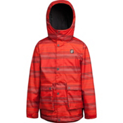Orage Dennis Boys Ski Jacket, Fire Red Stripe, medium