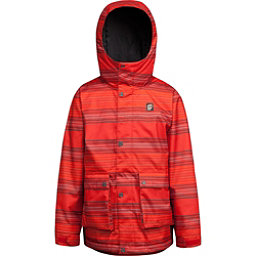 Orage Dennis Boys Ski Jacket, Fire Red Stripe, 256