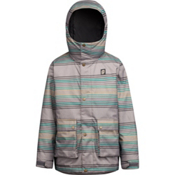 Orage Dennis Boys Ski Jacket, Bottle Green Stripe, medium
