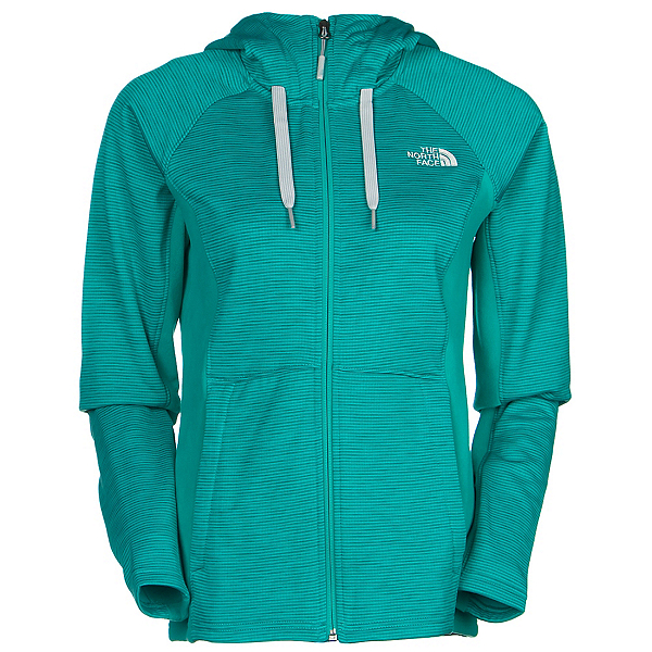 The North Face Castle Crag Womens Hoodie, Kokomo Green Stripe-Kokomo Gre, 600