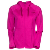 The North Face Castle Crag Womens Hoodie, Luminous Pink Stripe-Luminous, medium