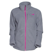 The North Face Sheepeater Full Zip Womens Jacket, Mid Grey-Luminous Pink, medium