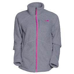 The North Face Sheepeater Full Zip Womens Jacket, Mid Grey-Luminous Pink, 256
