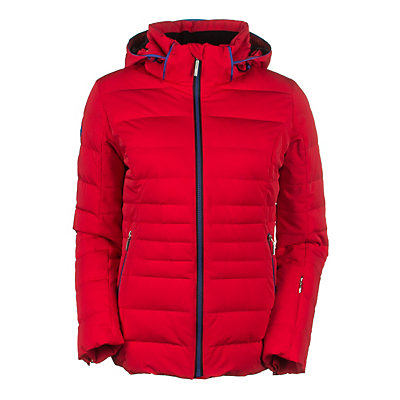 Descente Annie Womens Insulated Ski Jacket, Black-Azalea Pink-Flash Orange, viewer