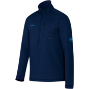 Mammut Runbold Half Zip Mens Mid Layer, Marine, medium