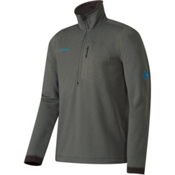 Mammut Runbold Half Zip Mens Mid Layer, Titanium, medium