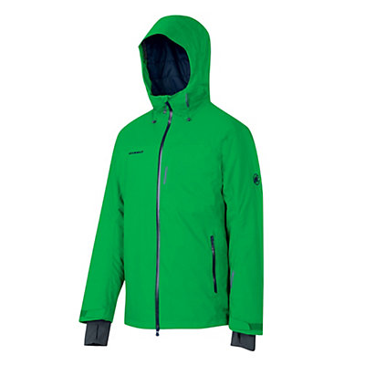 Mammut Bormio HS Hooded Mens Insulated Ski Jacket, Basil, viewer