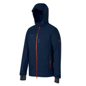 Mammut Bormio HS Hooded Mens Insulated Ski Jacket, Marine, medium