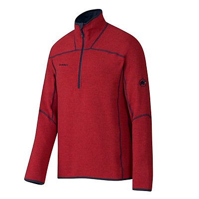 Mammut Phase Zip Pull Mens Mid Layer, Carmine-Dark Orange, viewer