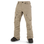 Volcom Articulated Mens Snowboard Pants, Khaki, medium