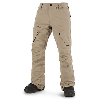 Volcom Articulated Mens Snowboard Pants, Khaki, viewer