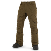 Volcom Articulated Mens Snowboard Pants, Olive, medium