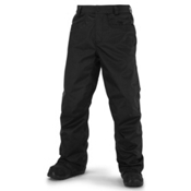 Volcom Carbon Mens Snowboard Pants, Black, medium